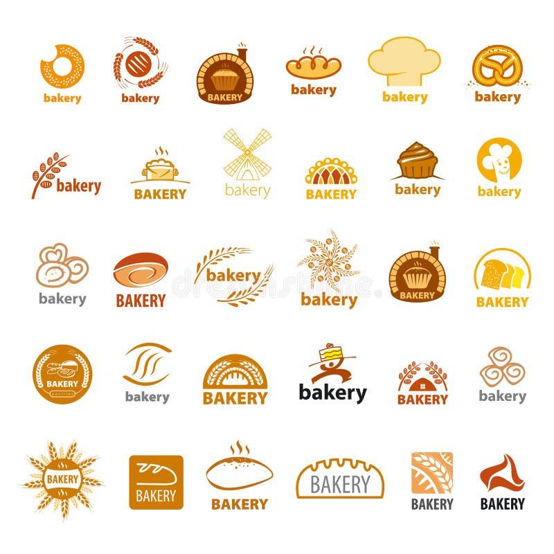传染媒介商标面包店的汇集 向量例证