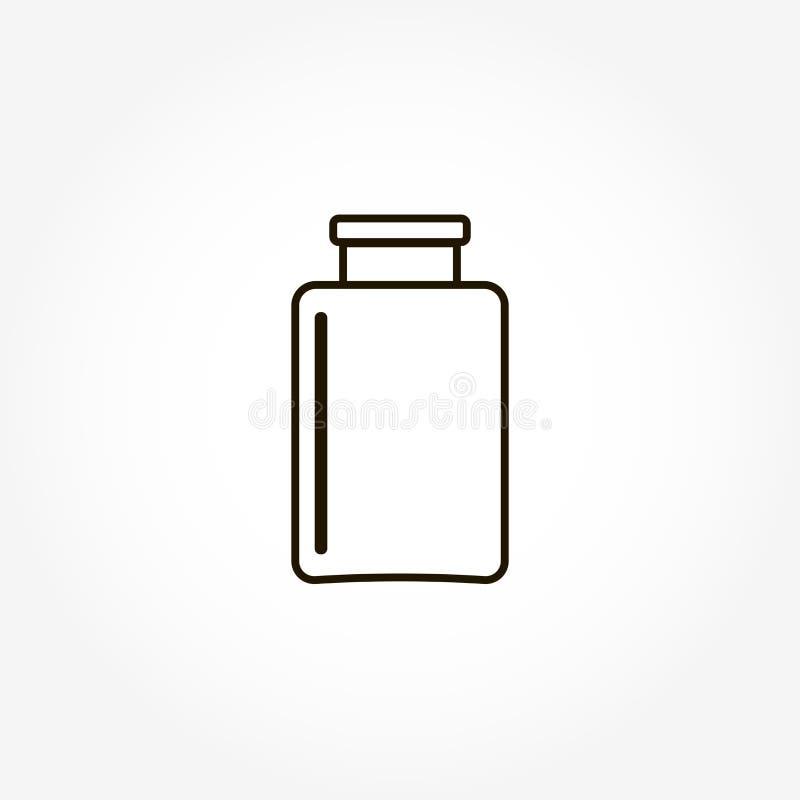 传染媒介图象玻璃瓶子象,烧杯 向量例证