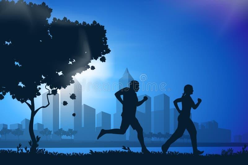 传染媒介图画连续运动员 向量例证