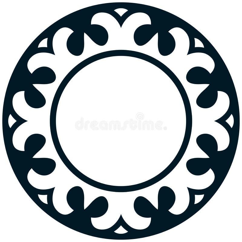 传染媒介圆的边界框架 向量例证