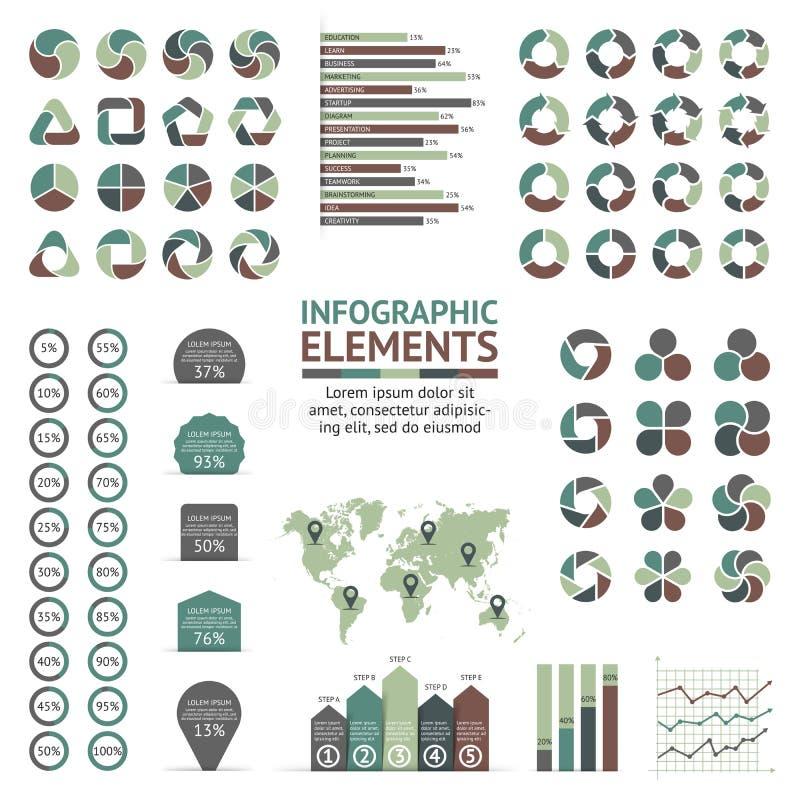 传染媒介圈子箭头infographic工具箱 周期图、图表、介绍和圆的图的模板 事务 皇族释放例证