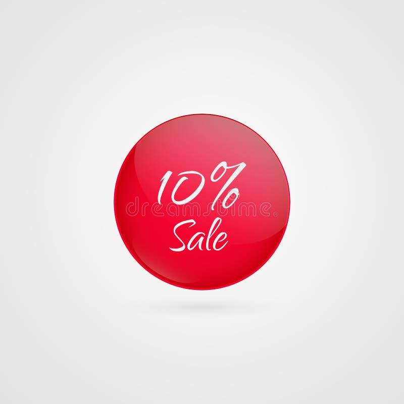 传染媒介圈子象的10% 折扣标志 例证标志待售,广告,销售的项目,事务 皇族释放例证