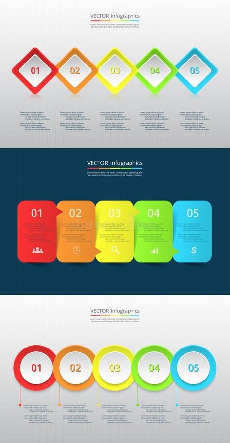 传染媒介圈子infographic集合 向量例证