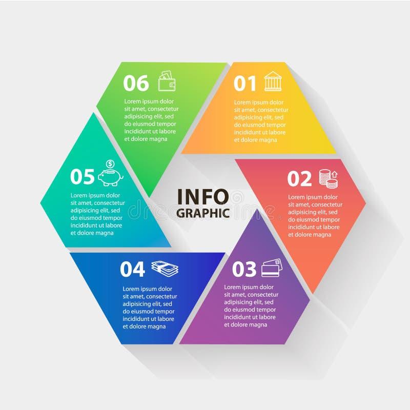 传染媒介圈子infographics 图的模板 向量例证