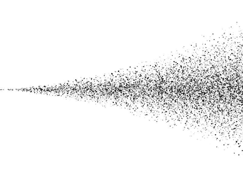 传染媒介黑土壤浪花尘土纹理 喷雾器 向量例证