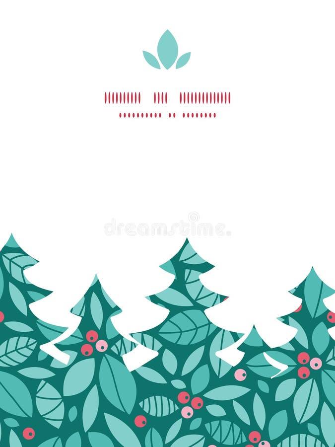 传染媒介圣诞节霍莉莓果圣诞树 向量例证