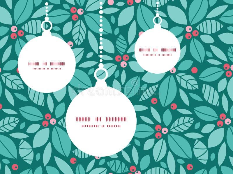 传染媒介圣诞节霍莉莓果圣诞节装饰品 向量例证