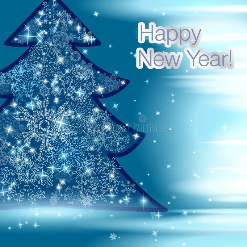 传染媒介2015年在印刷术样式的新年快乐背景 向量例证