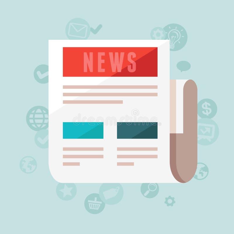 传染媒介在平的样式的新闻概念 库存例证