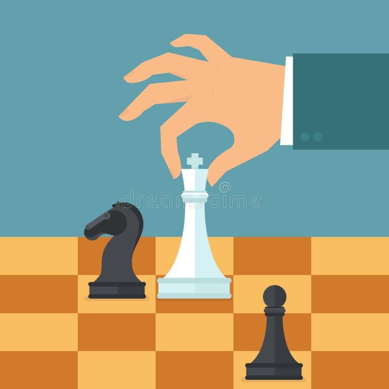 传染媒介在平的样式的经营战略概念 库存例证
