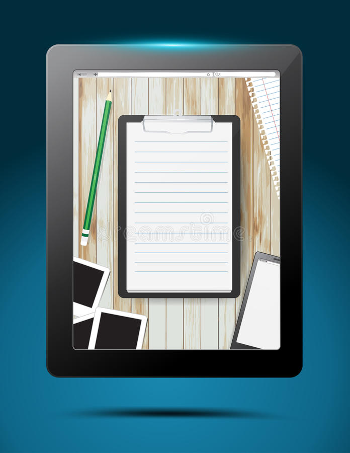 Download 传染媒介在片剂计算机的笔记薄app设计 向量例证. 插画 包括有 钉书匠, 互联网, 膝上型计算机, 主页 - 30332836