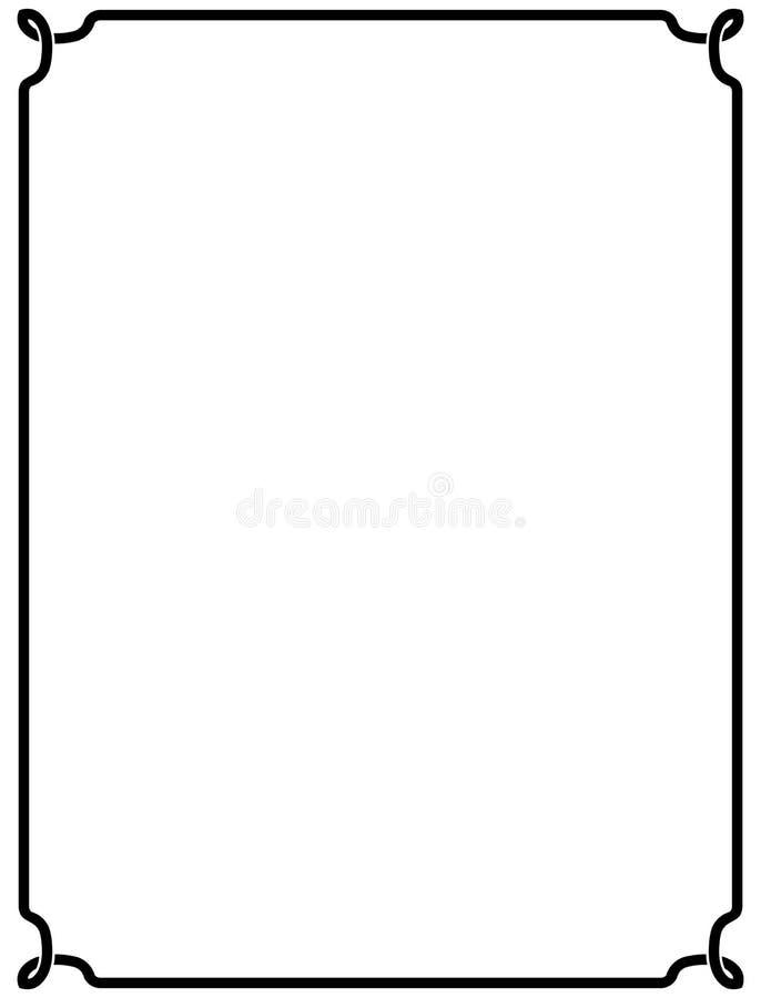 传染媒介在白色背景隔绝的葡萄酒框架 库存例证
