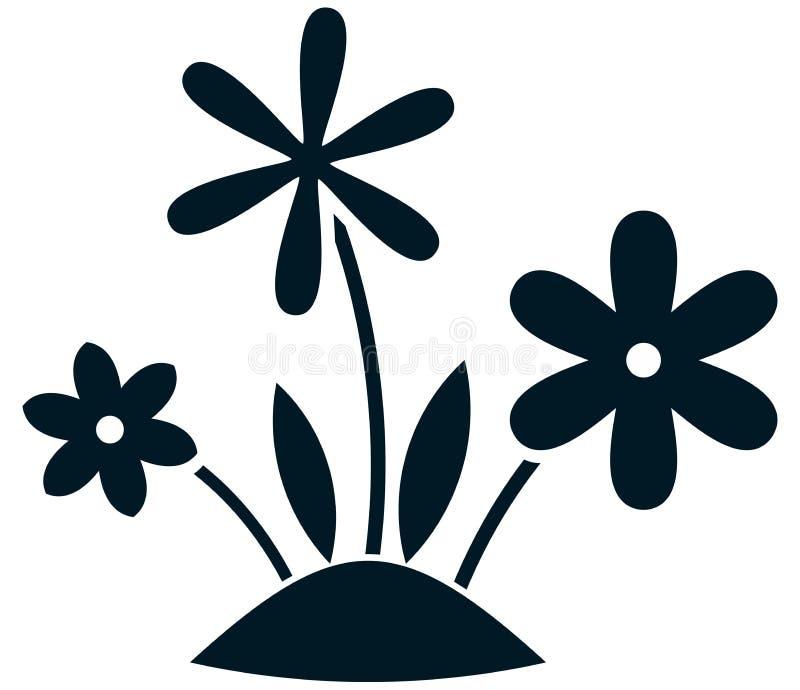传染媒介在白色隔绝的花卉生长例证 皇族释放例证