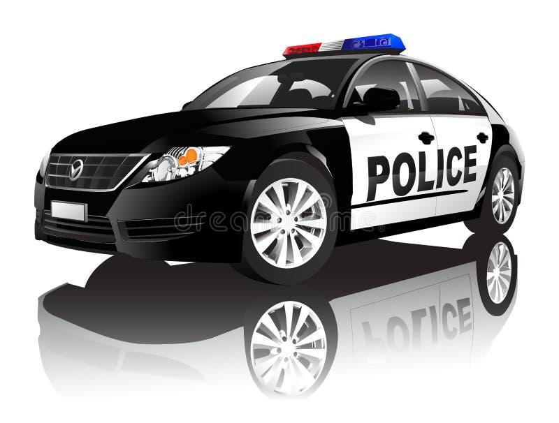 传染媒介在背景隔绝的警车 皇族释放例证