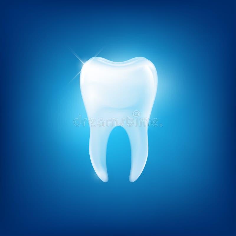 传染媒介在蓝色背景的牙犬齿 库存例证