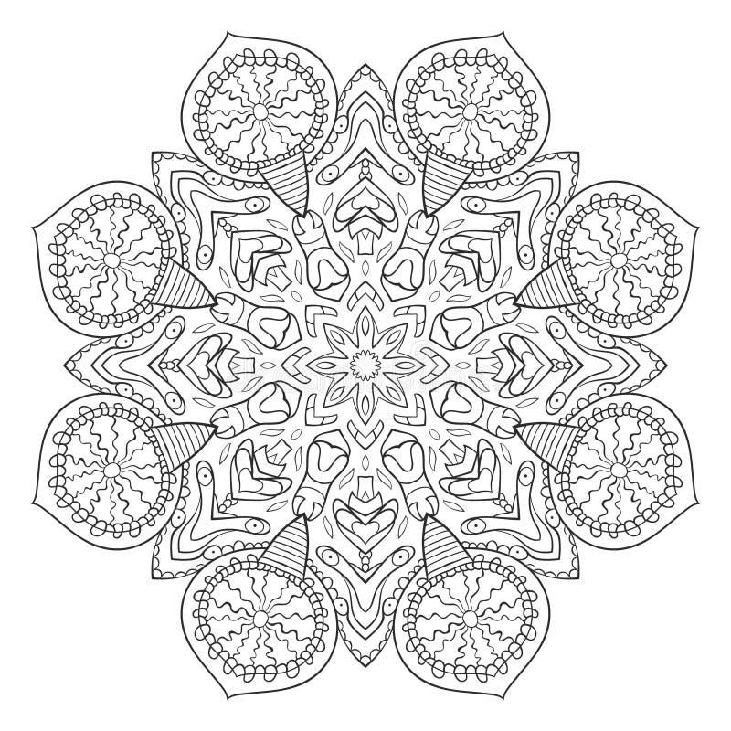 传染媒介坛场 花装饰品 手拉的要素 对上色,印刷品,海报,背景,小册子,邀请卡片 皇族释放例证