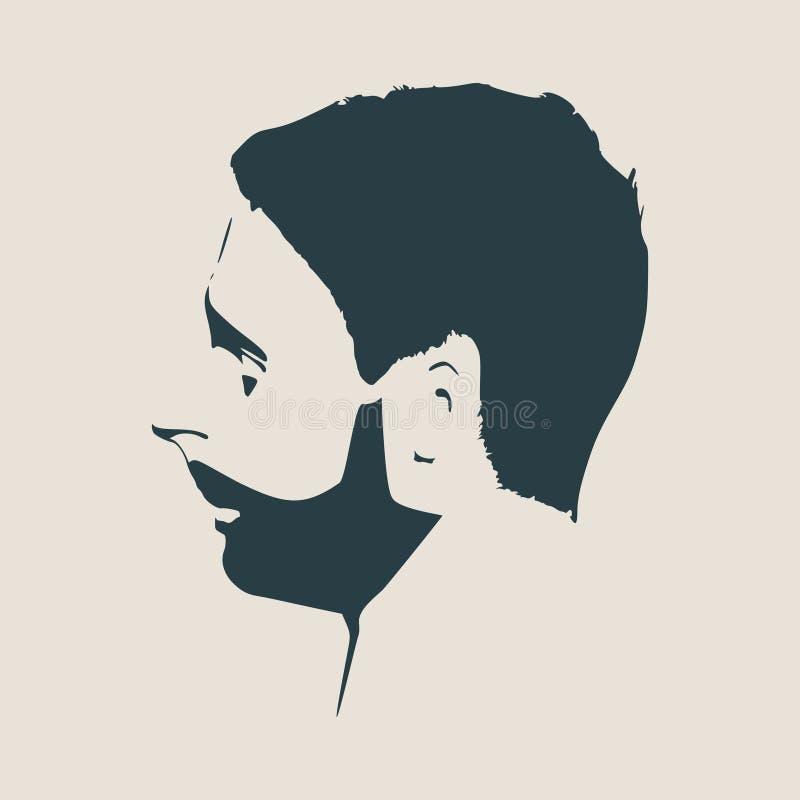 传染媒介外形观点的有胡子的人 皇族释放例证