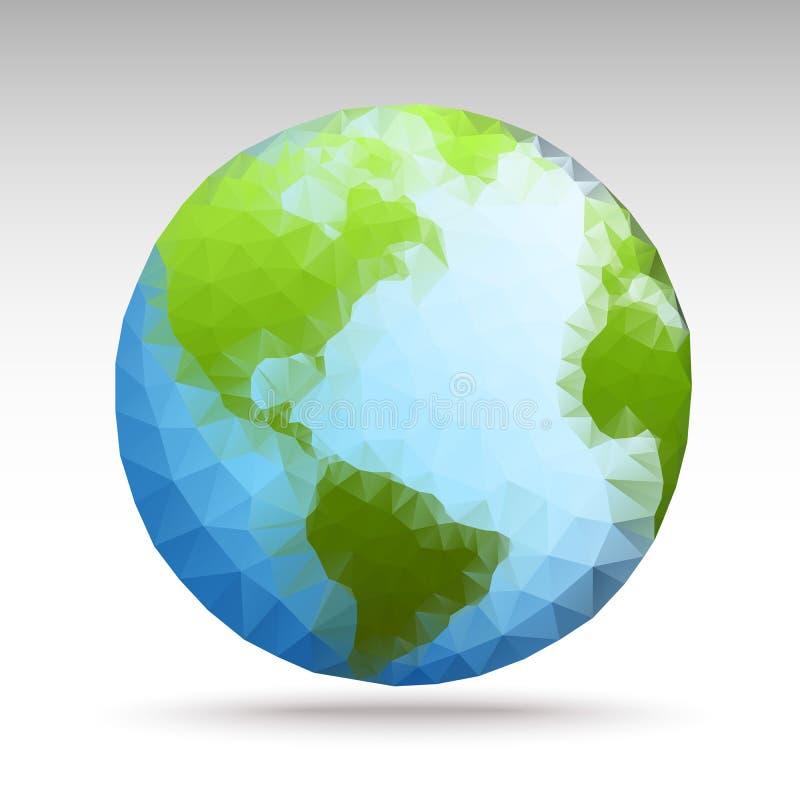 传染媒介多角形世界地球 向量例证