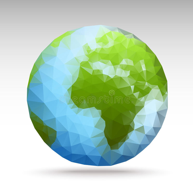 传染媒介多角形世界球形 向量例证