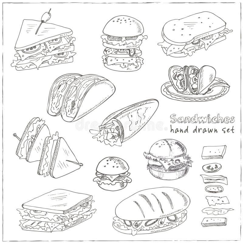 传染媒介套三明治 向量例证