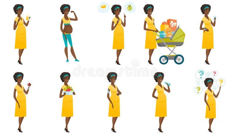 传染媒介套与孕妇的例证 向量例证