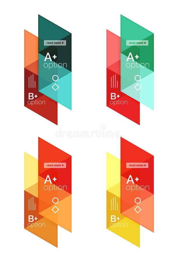 传染媒介套五颜六色的几何infographics 库存例证