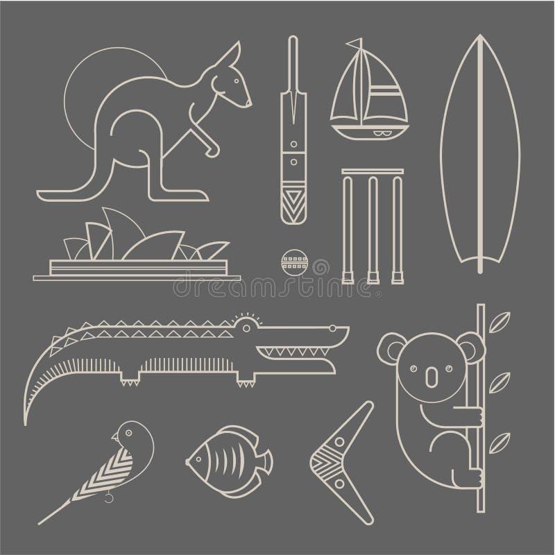 Download 澳洲象 向量例证. 插画 包括有 澳洲, 考拉, 图标, 逗人喜爱, 当地, 鳄鱼, 布琼布拉, 双翼飞机 - 30329105