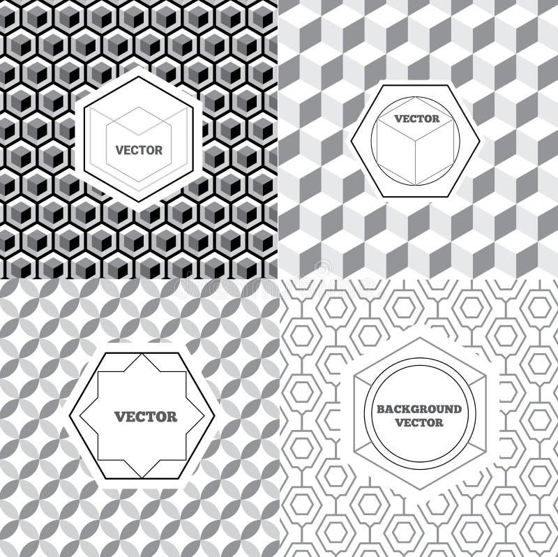 传染媒介套图形设计元素,商标设计模板 库存例证