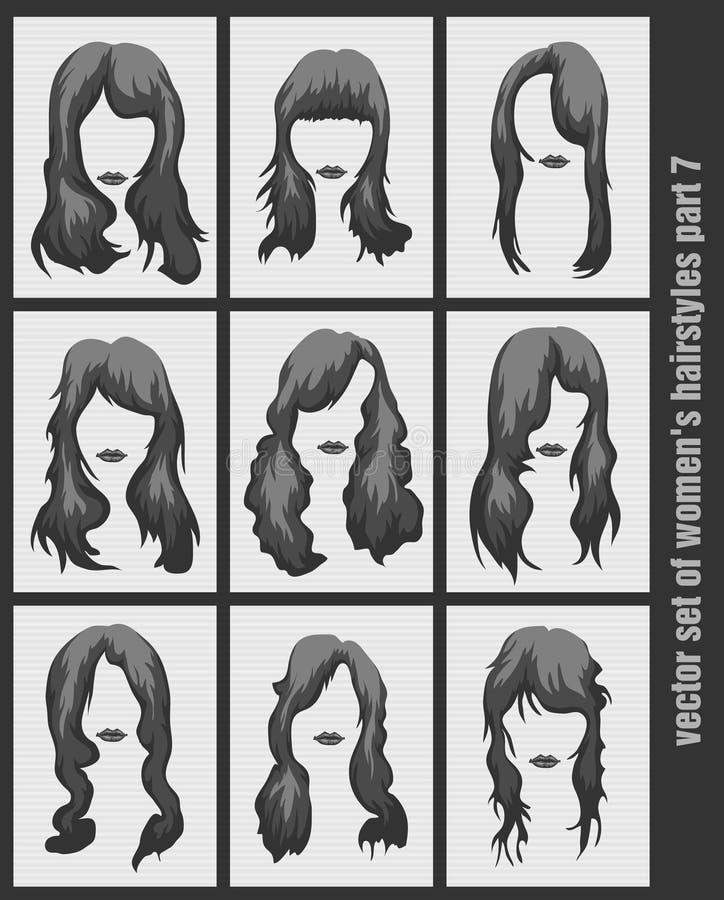 传染媒介套妇女的发型 向量例证