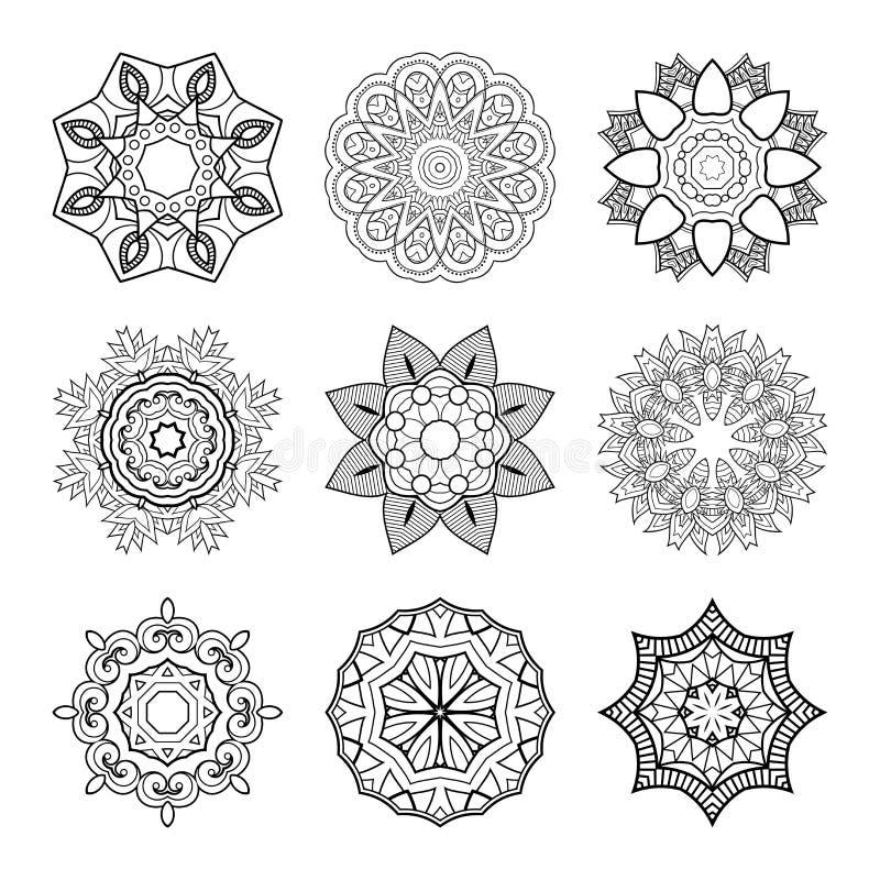 Download 传染媒介套美丽的Deco坛场 向量例证. 插画 包括有 艺术, 分级显示, 问候, 乱画, 餐巾, 异端 - 72352568