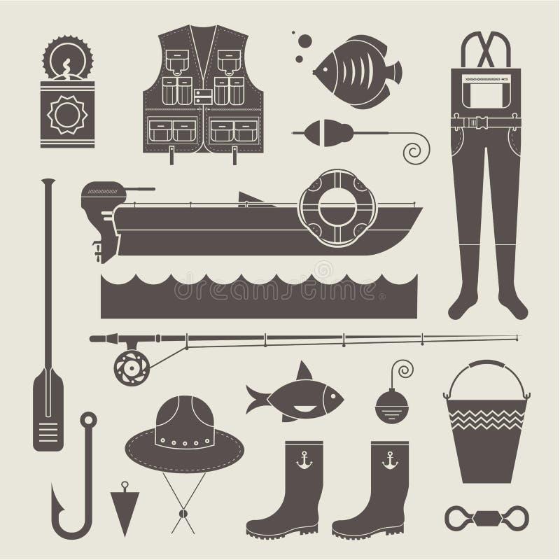Download 渔象 向量例证. 插画 包括有 马达, 图标, 标尺, 海运, 浮动, 室外, 裤子, 减速火箭, 布料 - 30329141