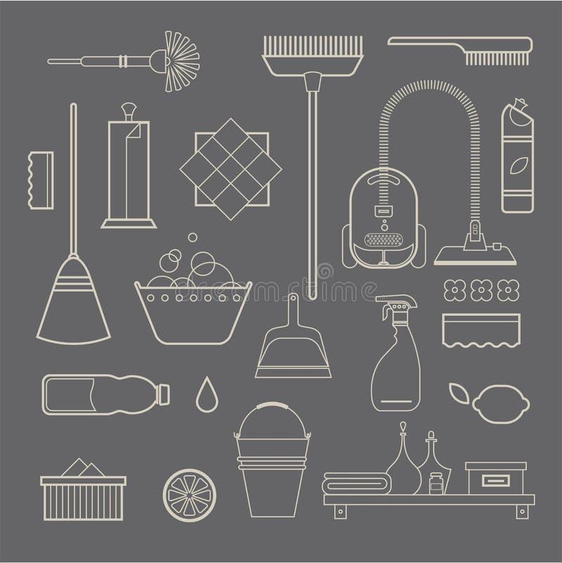Download 清洁象 向量例证. 插画 包括有 清洁, 干净, 笤帚, 家事, 橡胶, 差事, 新鲜, 织品, 背包, 容器 - 30329116