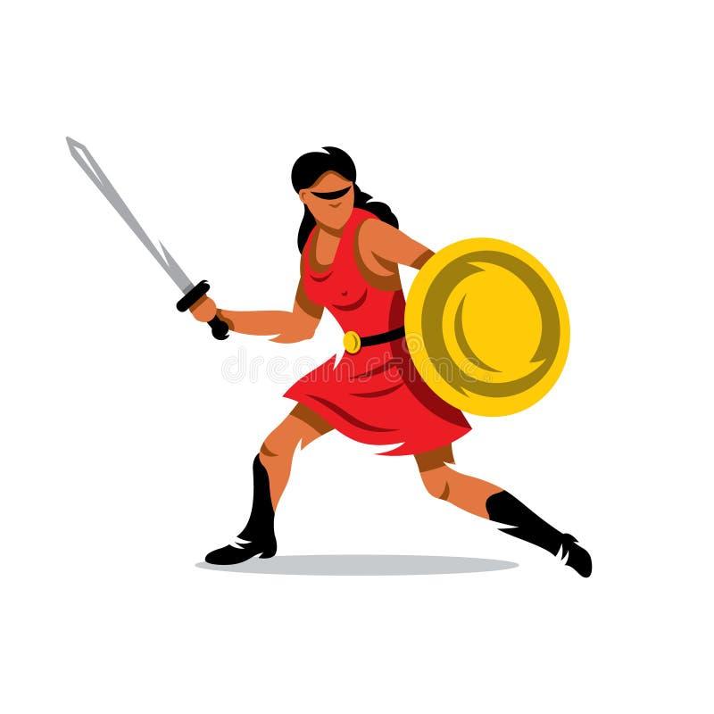 Download 传染媒介妇女战士动画片例证 妇女标志的抽象保护 向量例证. 插画 包括有 人力, 夫人, 调解, 阴物, 军事 - 72357503