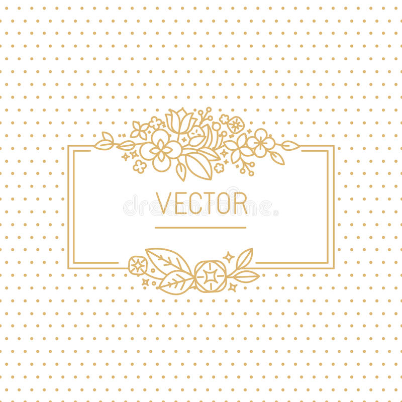 传染媒介婚礼邀请设计模板 库存例证