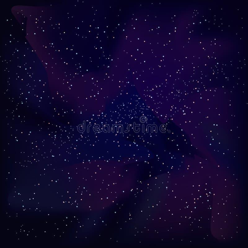 传染媒介宇宙天空 库存例证