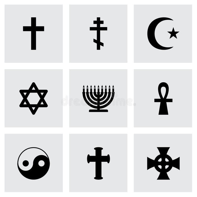 传染媒介宗教标志象集合 库存例证