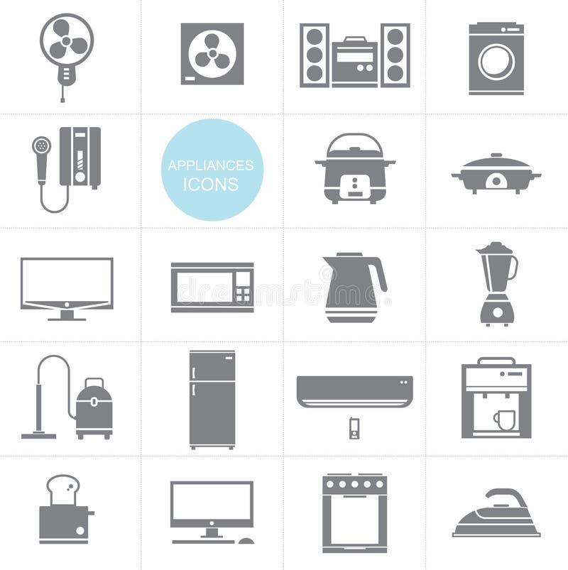 传染媒介家用电器象布景 向量例证