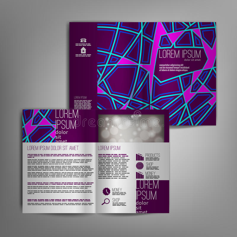 Download 传染媒介小册子与抽象样式的模板设计 向量例证. 插画 包括有 抽象, 总公司, 概念, 设计, 看板卡, 背包 - 72351251