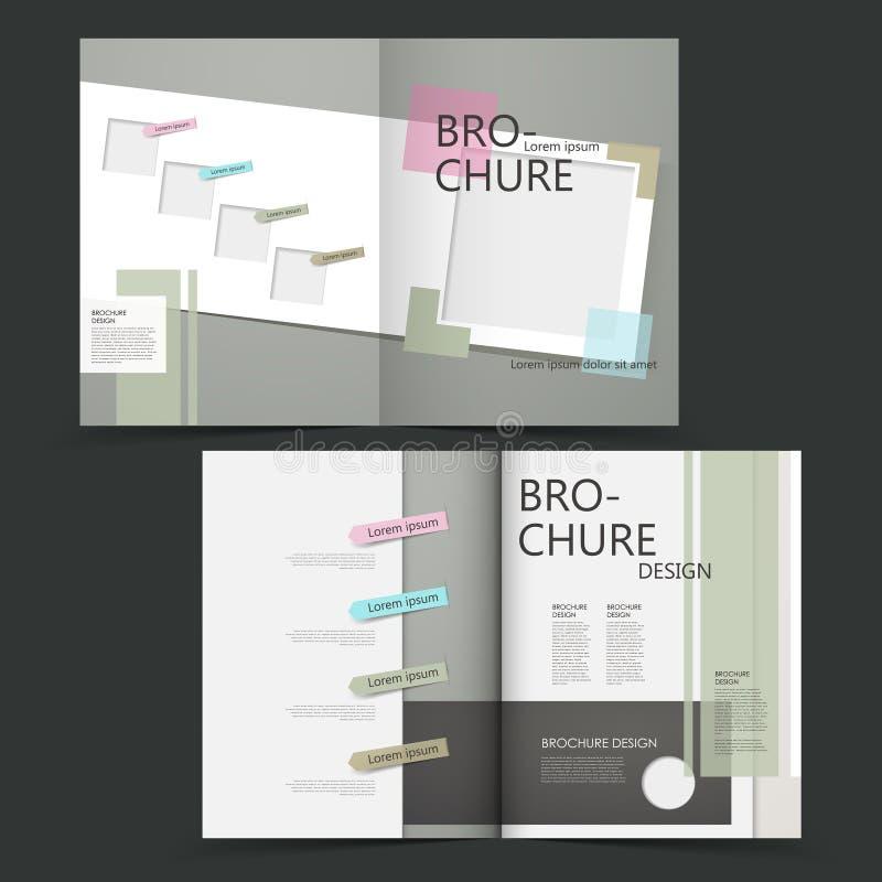 传染媒介小册子布局设计模板 向量例证