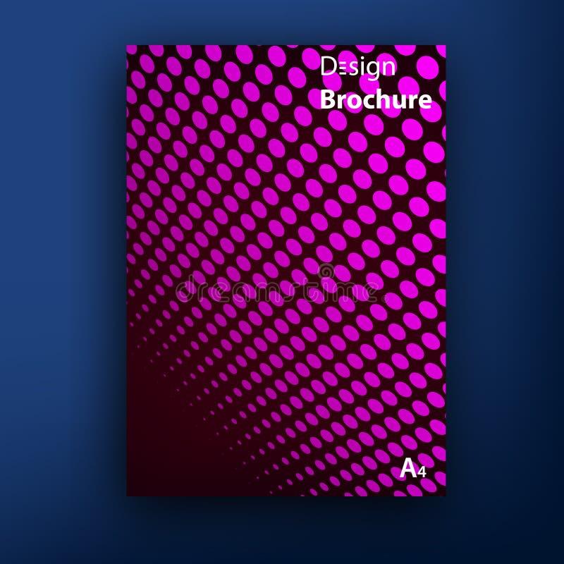 传染媒介小册子/小册子盖子设计模板 向量例证