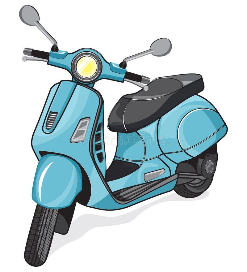 传染媒介小城市摩托车 库存例证