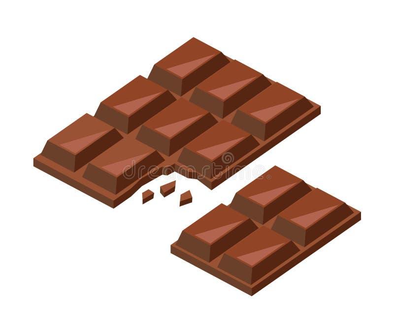 传染媒介巧克力块 向量例证