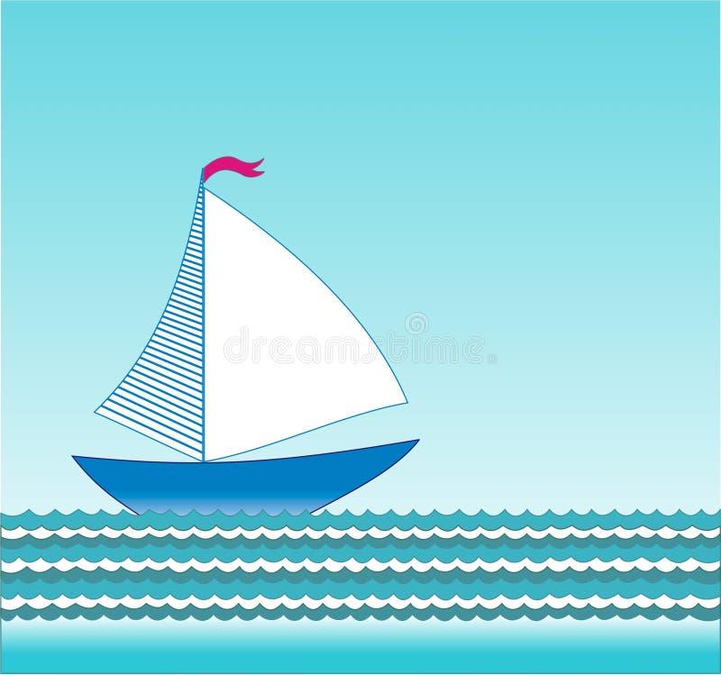 Download 传染媒介帆船 向量例证. 插画 包括有 绿松石, 蓝色, 绿色, 海运, 通知, 空白, 标志, 数据条 - 30334301