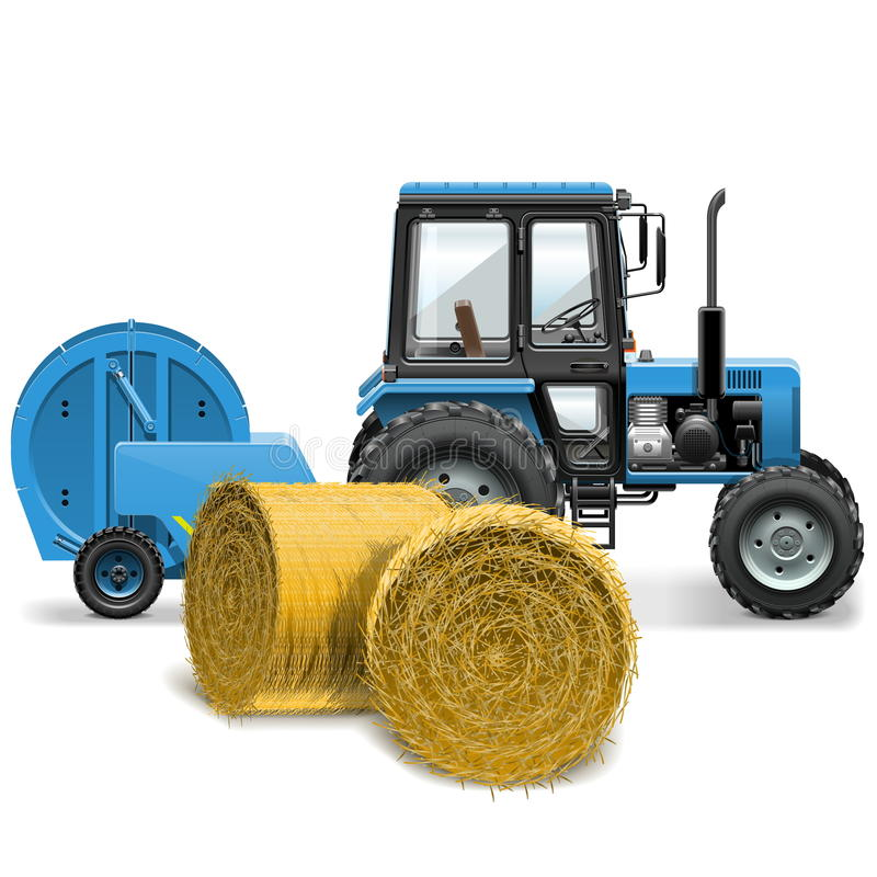 传染媒介干草打包机概念 向量例证