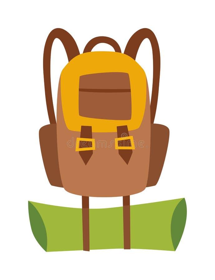 传染媒介平的远足的旅行背包袋子 向量例证