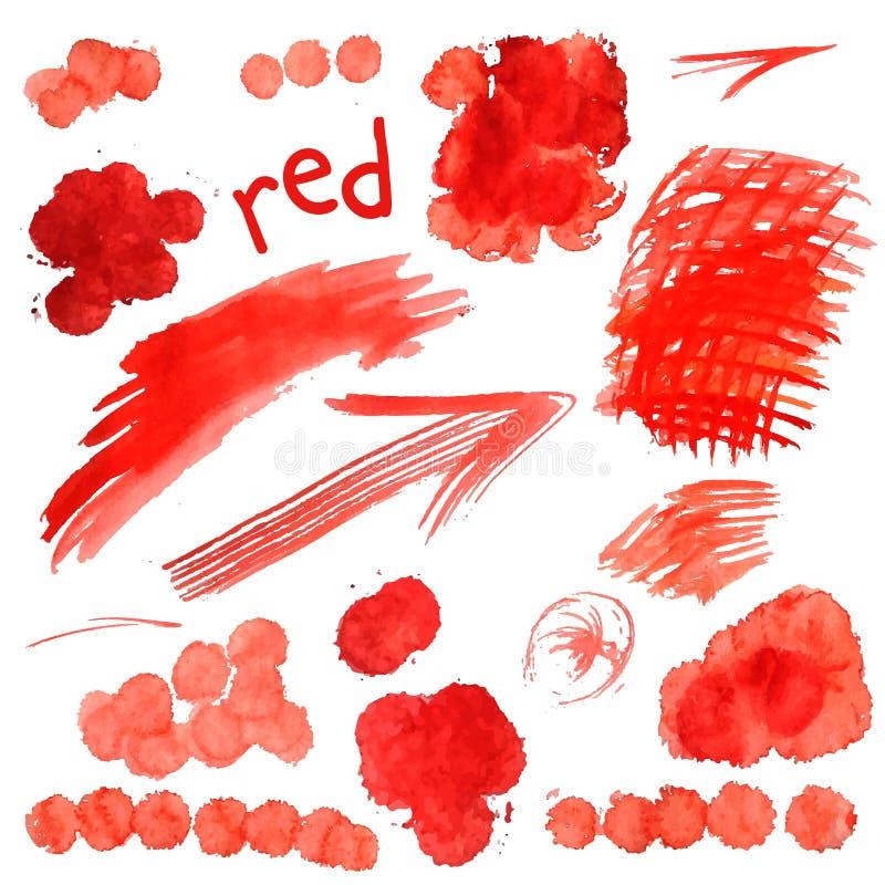传染媒介水彩油漆纹理 库存例证