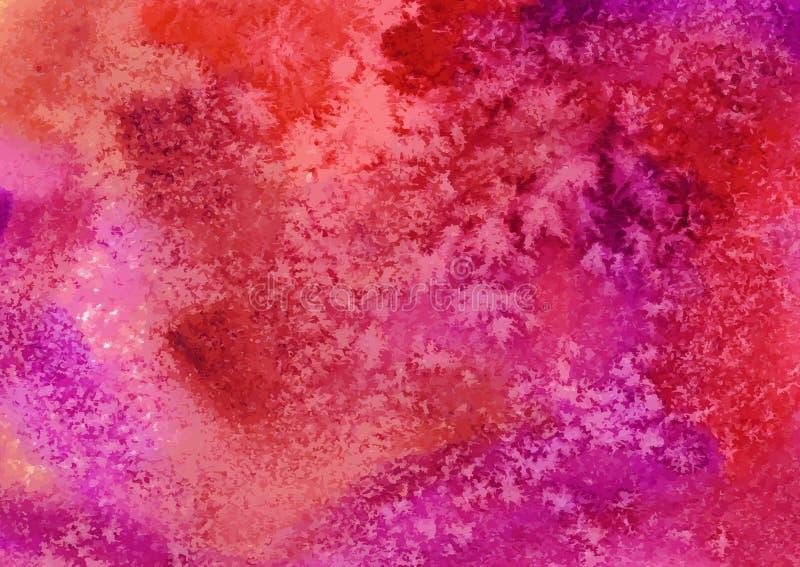 传染媒介水彩背景 抽象派手 向量例证