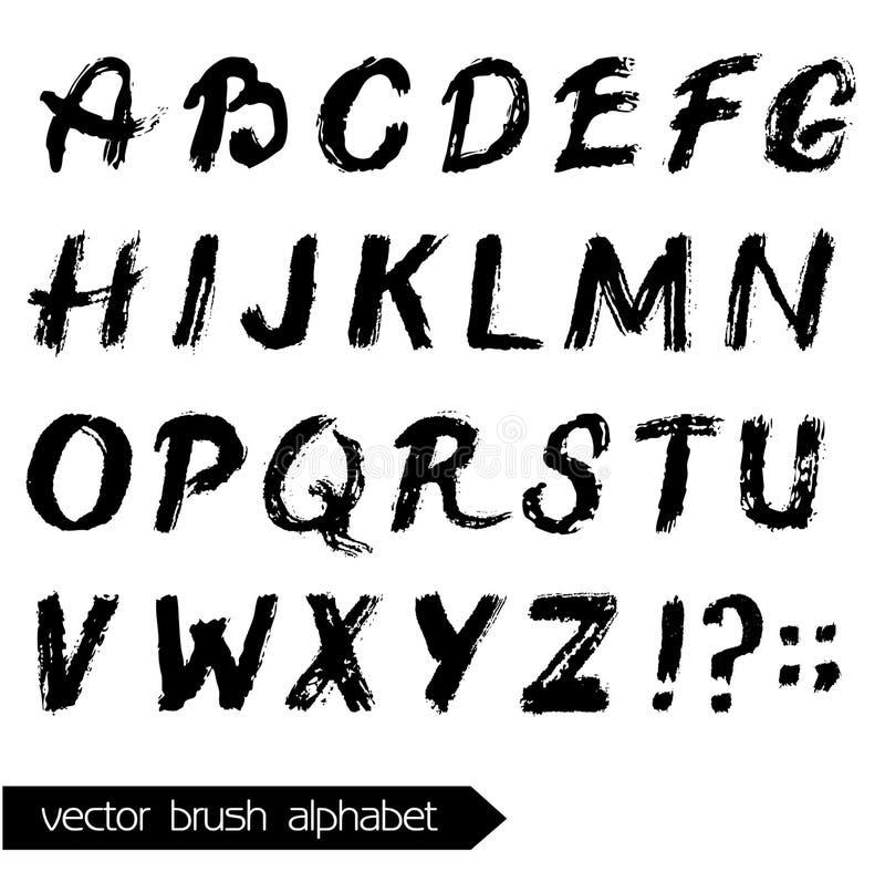 传染媒介水彩被绘的字母表 库存例证