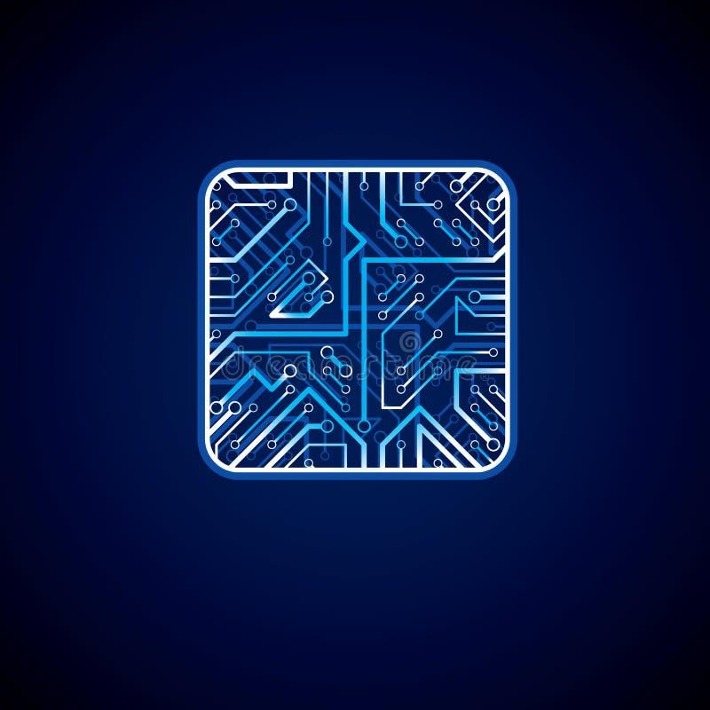 传染媒介微集成电路设计的汇集, cpu communic的信息 库存例证
