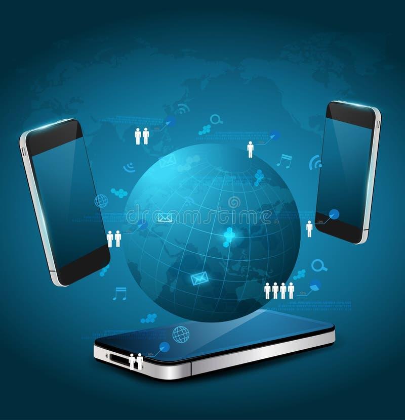 Download 传染媒介手机技术企业概念 向量例证. 插画 包括有 数据, 多媒体, 媒体, 映射, 云彩, 全球, 图标 - 30332816